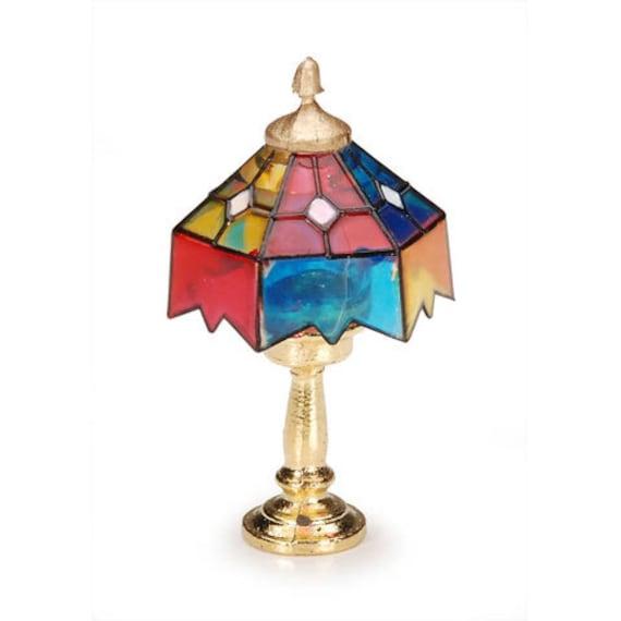 Miniature Dollhouse Tiffany Lamp 1/12 Dollhouse Supply Accessory Set ...