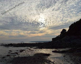 Peaceful Beach Sunset ~ South Cornwall ~  9 x 6 inches ~ Photographic Print