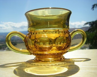Open Sugar Bowl in 'King's Crown-Amber' 4016 by Tiffin/Franciscan