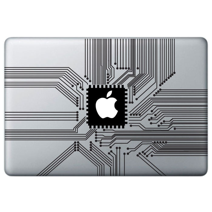 Circuit Decal Sticker Vinyl Decal Sticker Macbook Decal - Custom vinyl decals macbook