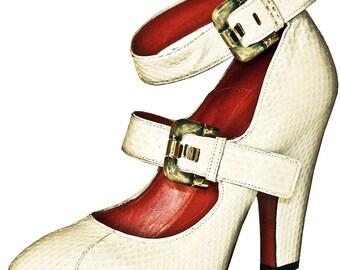 CESARE PACIOTTI Pythone Italian Women Shoes Pumps, EU 37
