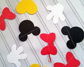 12 ft. Mickey Mouse Garland, Mickey Mouse Birthday garland, Minnie Mouse garland, Minnie Mouse Birthday garland