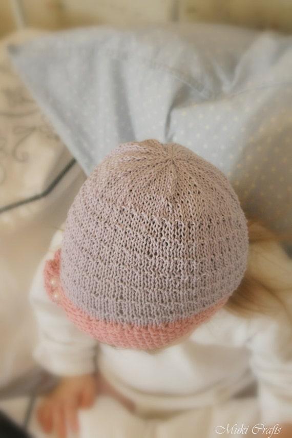 KNITTING PATTERN beanie ruffle hat Yasmine (baby, toddler, child sizes) from ...
