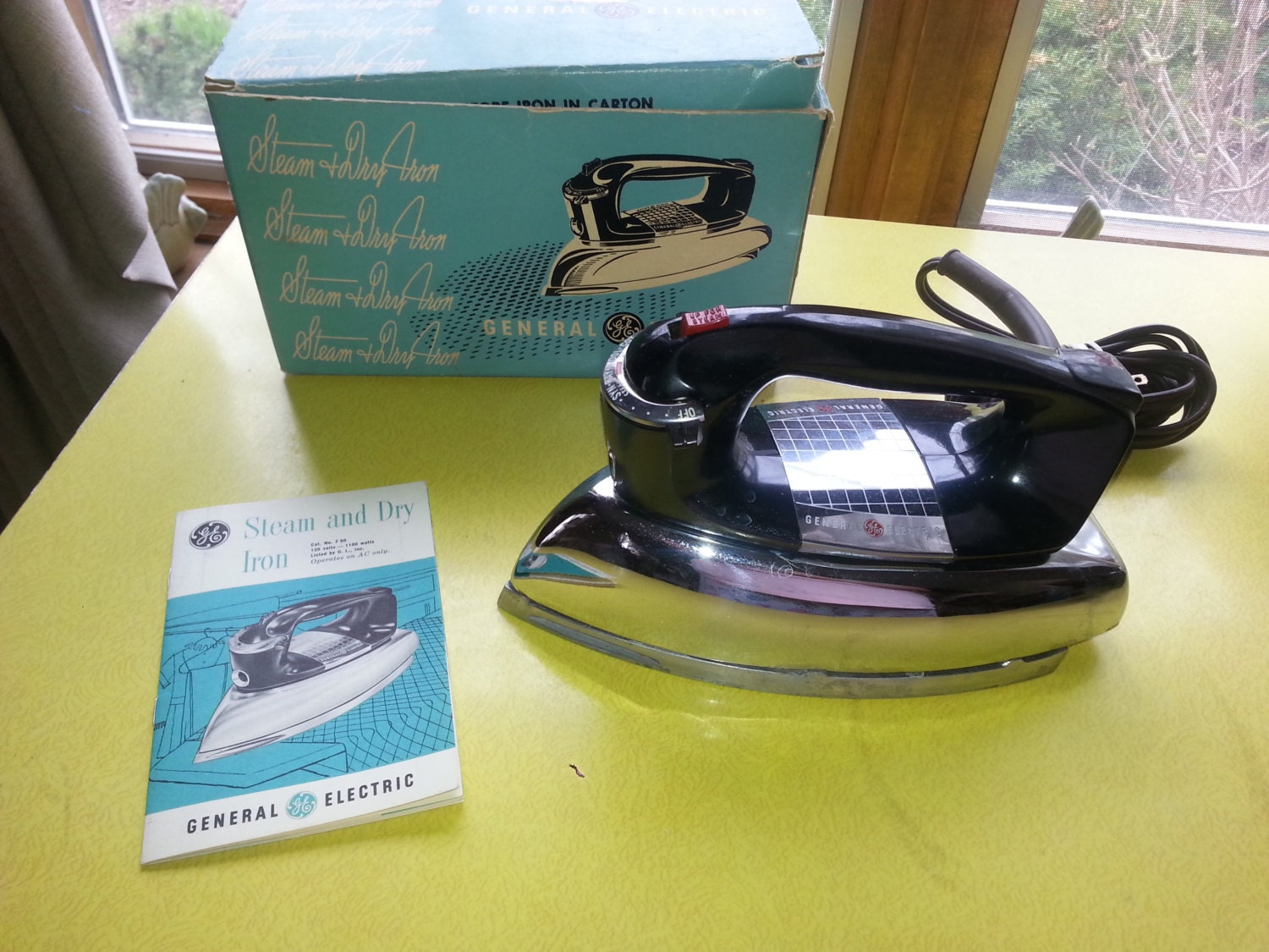Electric Dry Iron ~ Vintage general electric steam and dry iron by