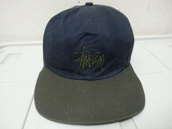 Vintage 1980s Stussy Embroidered Logo Style Mesh By
