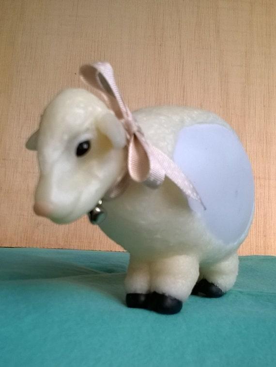 Sheep pilot led to soft changing colours. Cold porcelain. saeljana