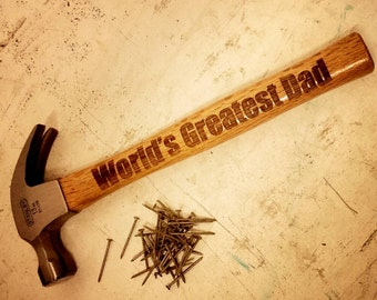 World's Greatest Dad claw Hammer Personalized with name