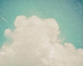 Cloud Photography, Fine Art Print, 8x10,16x20, 20x30 Wall Decor, Sky Photography, Nature Photography, Nursery, Vintage Print, Polaroid