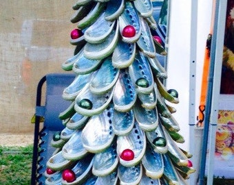 Coastal Christmas Tree, Seashell Tree, Abalone Tree
