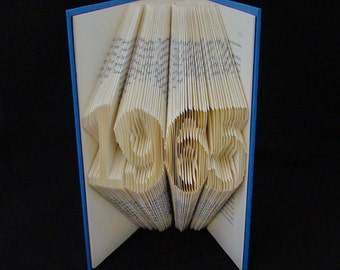 1965 -- Numbers and Digits --  Folded Book Art Sculpture