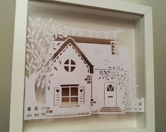 Papercutting template New Home template