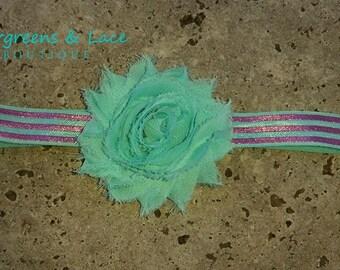 Mint & Metallic Pink Headband