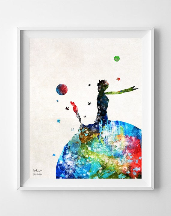 The little prince print le petit prince stars by inkistprints Decoration le petit prince