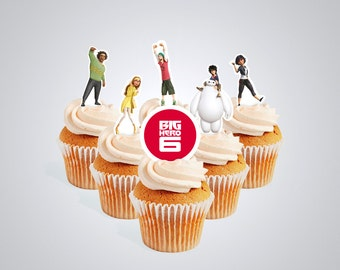 INSTANT DOWNLOAD Big Hero 6 cupcake toppers (digital file)