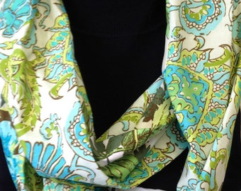 Large Floral Soul Blossom Amy Butler Infinity Scarf Women's Cotton