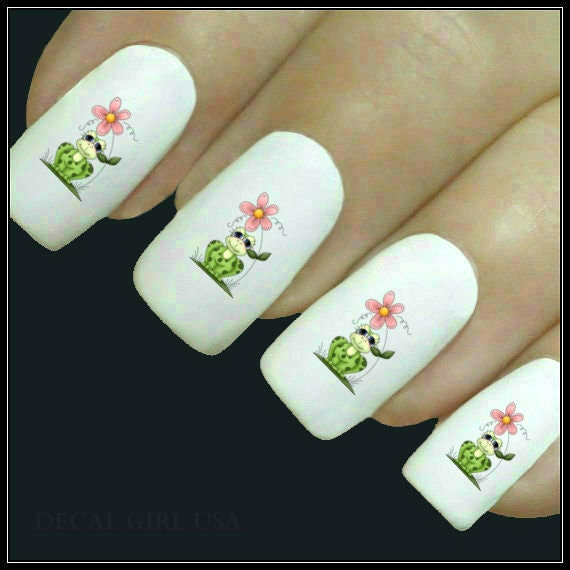 Frog Nail Art: Animal Nail Decal Frog Nail Art 20 Water Slide Decals