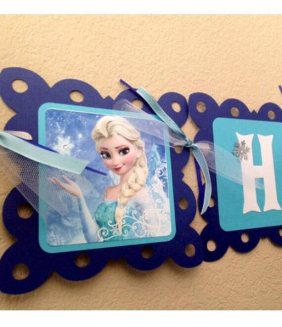 NEW STYLE Frozen Birthday Banner Frozen Party Frozen
