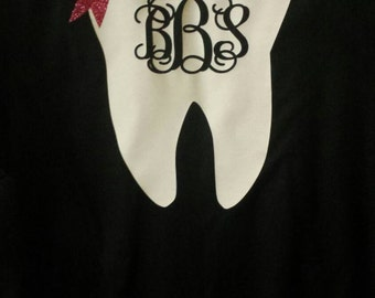Monogrammed Dental Profession Shirt