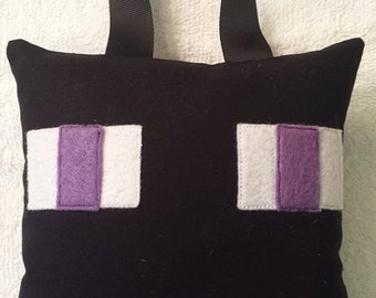 """Minecraft INSPIRED """"Enderman"""" Tooth Fairy Pillow"""