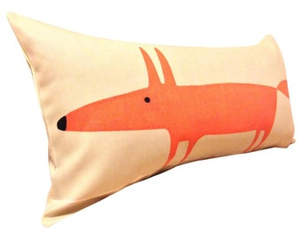 Scion Mr Fox Cream Bolster Cushion Cover