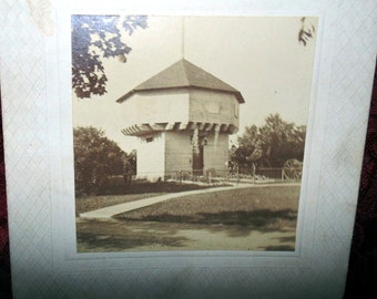 1800s Cabinet Card Ft Presque Isle Blockhouse Erie, PA