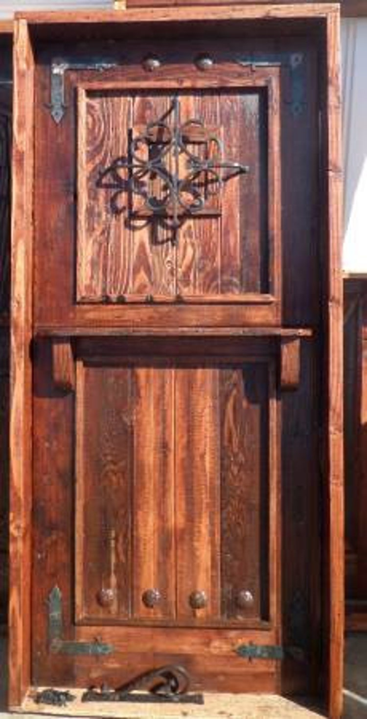 Reclaimed Lumber Rustic Dutch Door W Hard By