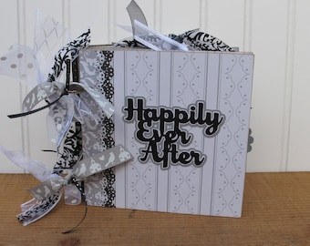 Wedding Scrapbook Album Chipboard 6x6 Bridal Shower Gift Anniversary Keepsake