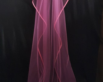 Cathedral Veil, Two Layers, Pink