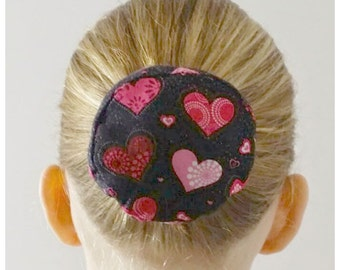 Valentine Hearts Hair Bun Cover Bundazzle