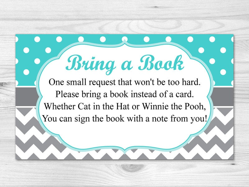 Fan image in bring a book baby shower insert free printable