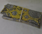 Circular and Interchangeable Knitting Needle Case, Green modern floral