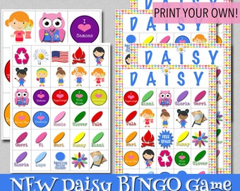 Daisy BINGO Game - Print Your Own!