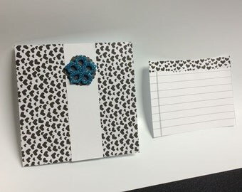 Handmade greeting card with note paper for special day