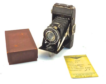 Vintage Made in France DEHEL Bellows 6 X 9 Folding Camera 3.5 Lens