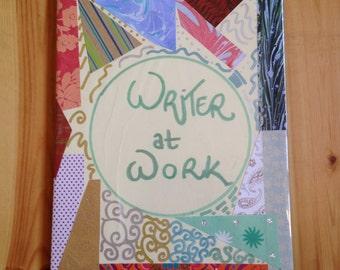 Writer at work - notebook