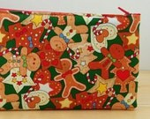 Children pencilcase, fabric pencil case, ginger biscuit, kids pencil, school pencil case, biscuit man pouch,party pencil case