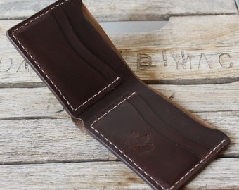 Horween Chromexcel Leather Wallet / Mens Leather Wallet / USA Made Wallet