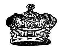 Crown Digital Vintage Printable Graphic No.6