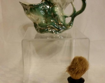 Shaving cup and brush
