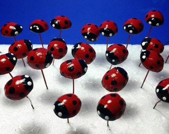 Miniature Dollhouse Fairy Garden Accessories 50 Pcs.Tiny Red ladybug