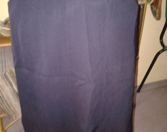 YSL left bank gabardine skirt Navy