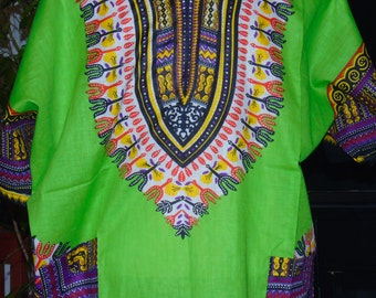 African Dashiki  with two front Pockets