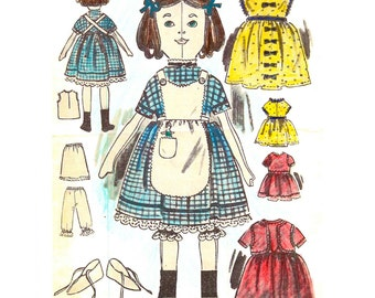 Victorian Rag Doll sewing pattern- full size paper pieces