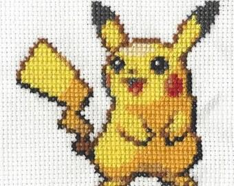 Pikachu Pokemon Cross Stitch Pattern