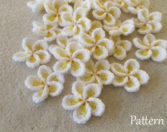 Crochet Pattern Frangipani Plumeria