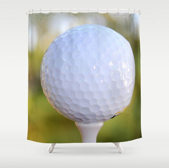 Https Etsy Com Listing 212699427 Golf Ball Fabric Shower Curtain White