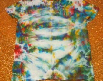 Women's Size Small Tie Dye T-Shirt, Hanes ComfortSoft, short sleeves, 100% cotton