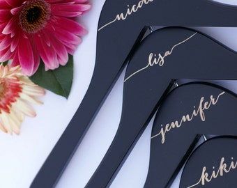 1 Bridal Hangers, Will You Be My Bridesmaid Gift Idea, Personalized Wedding Hanger, Engraved Wood hanger