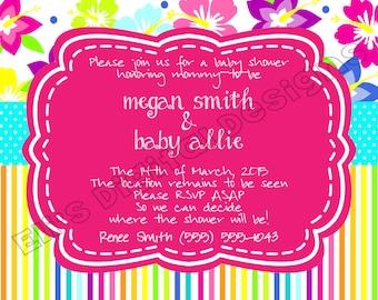 Hawaiian Baby Shower Invitation