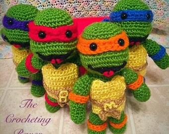 Ninja Turtle Crochet Baby Hat Pattern : Crochet ninja turtle Etsy